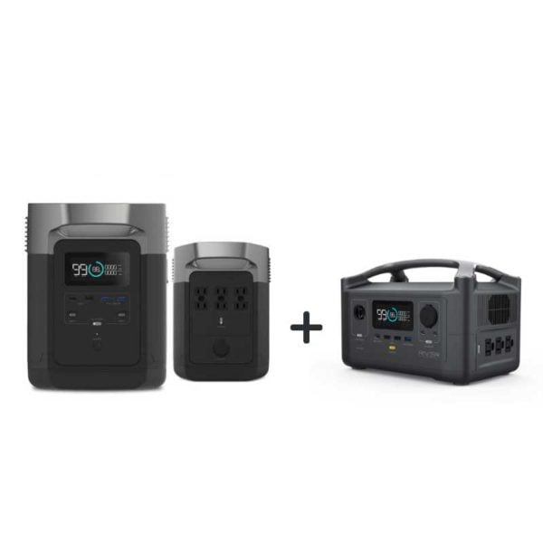 Delta 1300wH And RIVER600 Bundle Portable Power Stations
