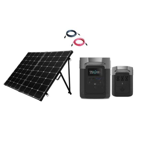 EcoFlow Delta 1800 Base Camp Kit 4 Solar Panels