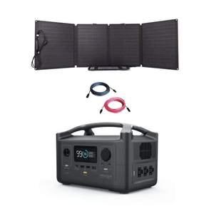 EcoFlow RIVER600 And 110W Folding Solar Panel