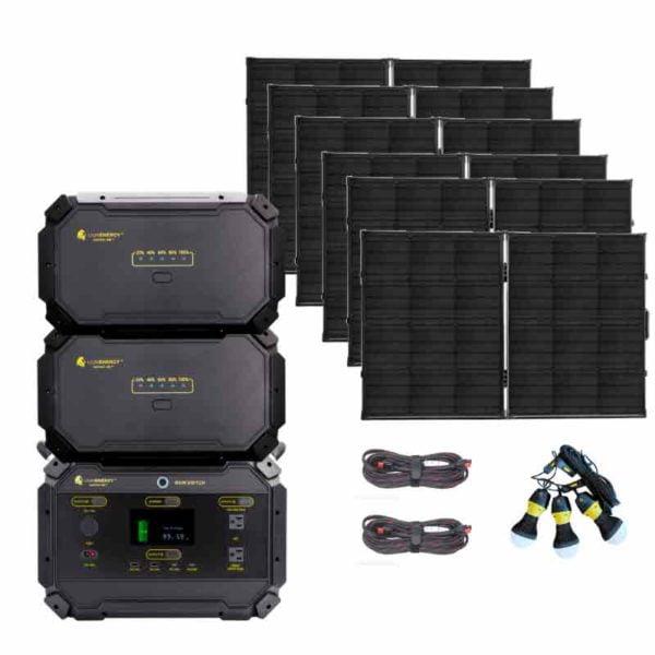 Lion Safari ME 5000wH Solar Generator Kit Elite